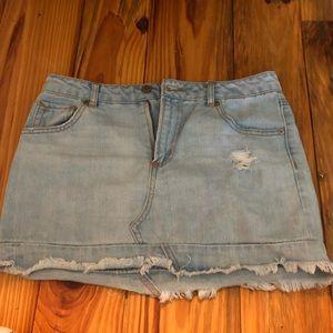 Cute Distressed Denim Skirt!!